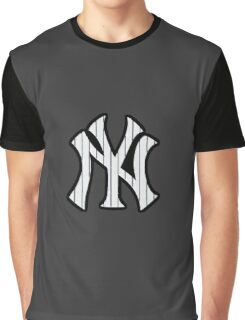 New York Yankees Pinstripes Logo Graphic T-Shirt