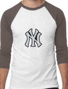 New York Yankees Pinstripes Logo Men's Baseball ¾ T-Shirt