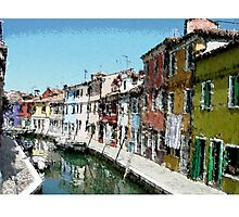 The colors of Burano Photographic Print