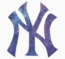 New York Yankees Watercolor Logo One Piece - Short Sleeve
