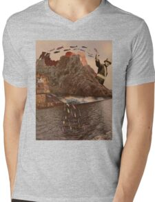 Fly Fishing Mens V-Neck T-Shirt