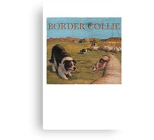 Dog Breed - the Border Collie Canvas Print