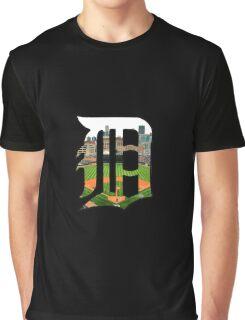 Detroit Tigers Stadium Logo Graphic T-Shirt