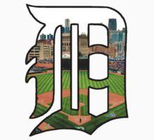 Detroit Tigers Stadium Logo Kids Tee