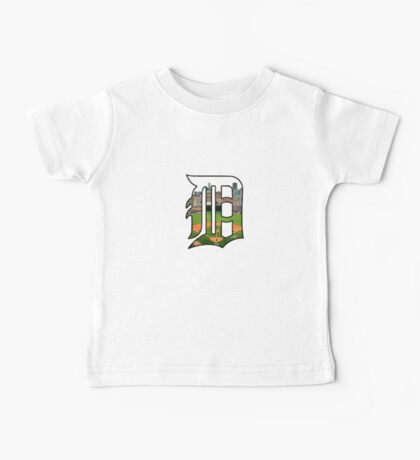 Detroit Tigers Stadium Logo Baby Tee