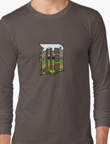 Detroit Tigers Stadium Logo Long Sleeve T-Shirt