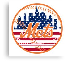 New York Mets Flag Logo Canvas Print