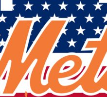 New York Mets Flag Logo Sticker