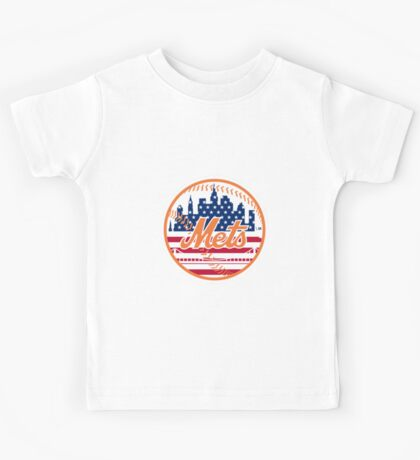 New York Mets Flag Logo Kids Tee