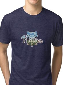 Philadelphia Phillies Stadium Logo Tri-blend T-Shirt