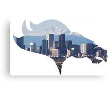 Denver Broncos Skyline Canvas Print
