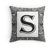 Vintage Monogram | Letter S Throw Pillow
