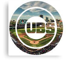 Chicago Cubs Stadium Logo Canvas Print