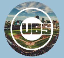 Chicago Cubs Stadium Logo One Piece - Short Sleeve