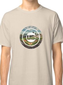 Chicago Cubs Stadium Logo Classic T-Shirt