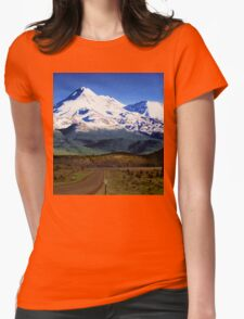 Mt. Shasta Graphic Womens Fitted T-Shirt