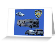 NYPD 3 Greeting Card