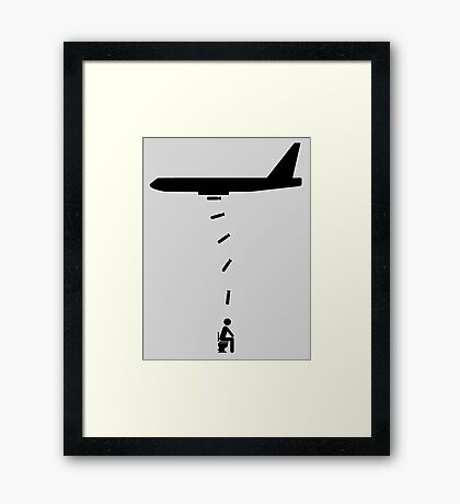 Toilet Bomber Framed Print