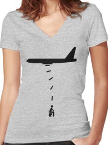 Toilet Bomber Women's Fitted V-Neck T-Shirt