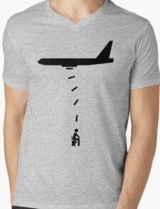 Toilet Bomber Mens V-Neck T-Shirt