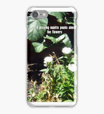 Praying Mantis In The Flowers - 301215 iPhone Case/Skin