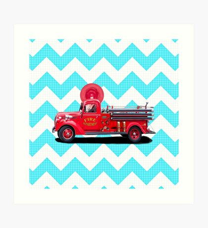 Old Fashioned Fire Truck Art Print