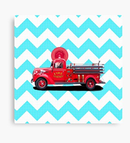 Old Fashioned Fire Truck Canvas Print