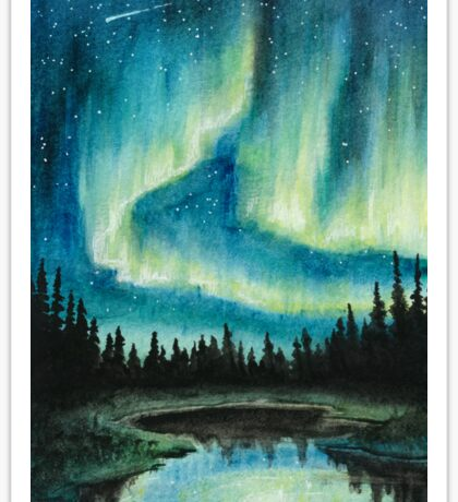 Skyscape - Northern Lights Sticker