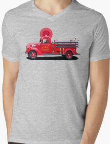 Old Fashioned Fire Truck Mens V-Neck T-Shirt