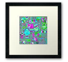 pixel mess Framed Print