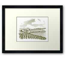 Rural Farm House Framed Print
