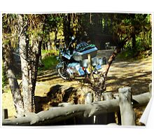 Moto-resting in Pinos Altos, New Mexico Poster