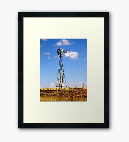 Windmill in Moriarty, New Mexico Framed Print