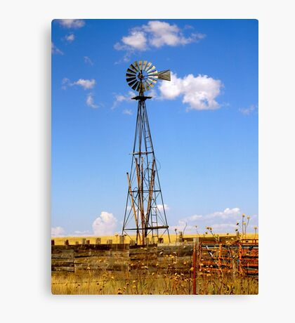 Windmill in Moriarty, New Mexico Canvas Print