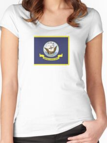 Flag of the United States Navy Women's Fitted Scoop T-Shirt