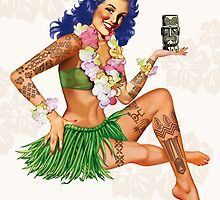 Hawaiian Pin-up by metroymedio