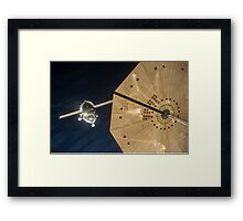 Expedition 46 Soyuz Approaches Space Station for Docking Framed Print