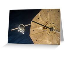Expedition 46 Soyuz Approaches Space Station for Docking Greeting Card