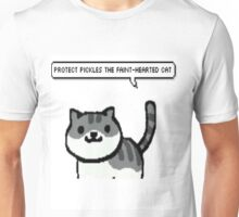 protect pickles the faint-hearted cat Unisex T-Shirt