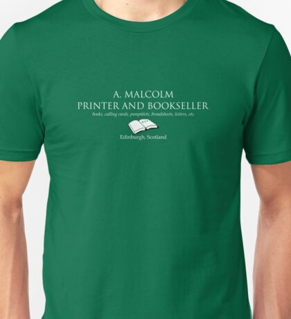 A. Malcolm Printer and Bookseller Unisex T-Shirt