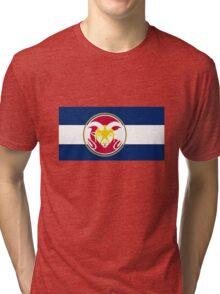 Colorado State University / Colorado Flag - Tri-blend T-Shirt