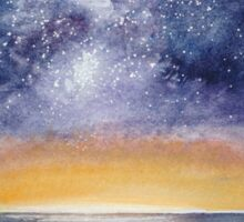 Nightscape - Where the Milky Way meets the Sea Sticker