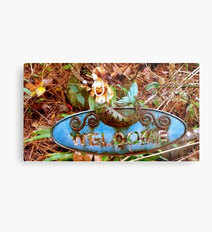 Mermaid of the Outer Banks Welcomes  Metal Print