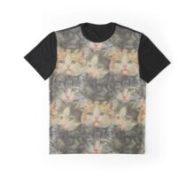 Vintage Cats everywhere Graphic T-Shirt