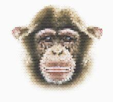 Polygonal Monkey One Piece - Short Sleeve