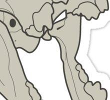 """Howl"" Bones Sticker"