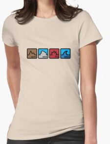 Earth Wind Fire Water Womens Fitted T-Shirt