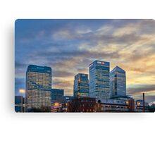 Canary Wharf skyline Canvas Print