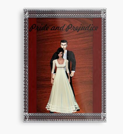 Pride and Prejudice Darcy and Lizzy Metal Print