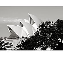 Sydney Opera House Black and White Photographic Print